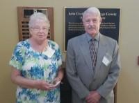 Henrietta Van Meekeren and Board Chair Don Henry